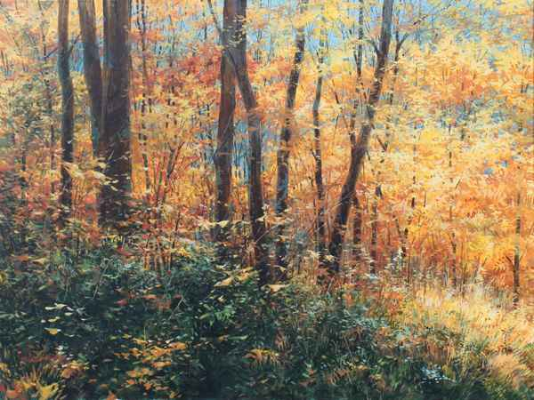Golden Foliage and Bl... by  Michael Wheeler - Masterpiece Online