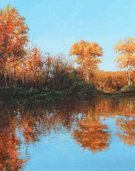 Still Pond - Golden L... by  Michael Wheeler - Masterpiece Online