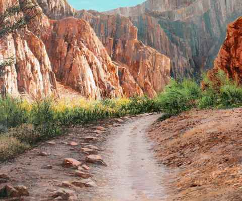 Canyon Wall - Afterno... by  Michael Wheeler - Masterpiece Online