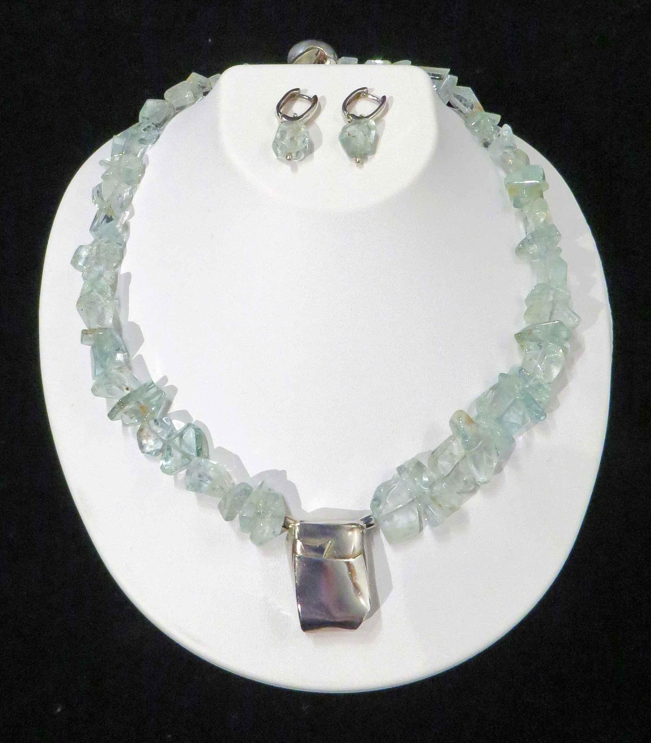 Aquamarine and Sterli...  by   Artisan Jewelry