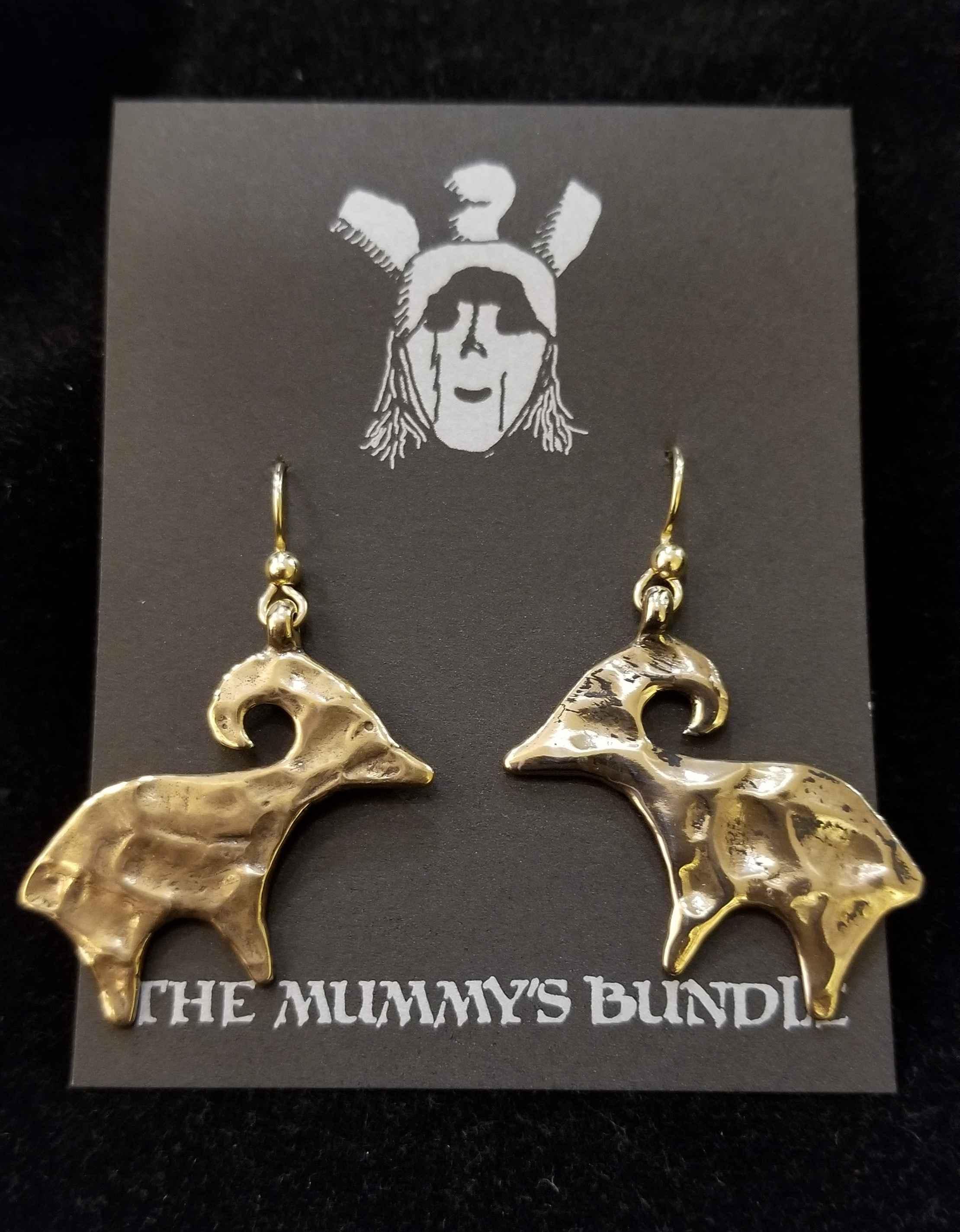 Bighorn Sheep Brass E... by  Mummy's Bundle - Masterpiece Online