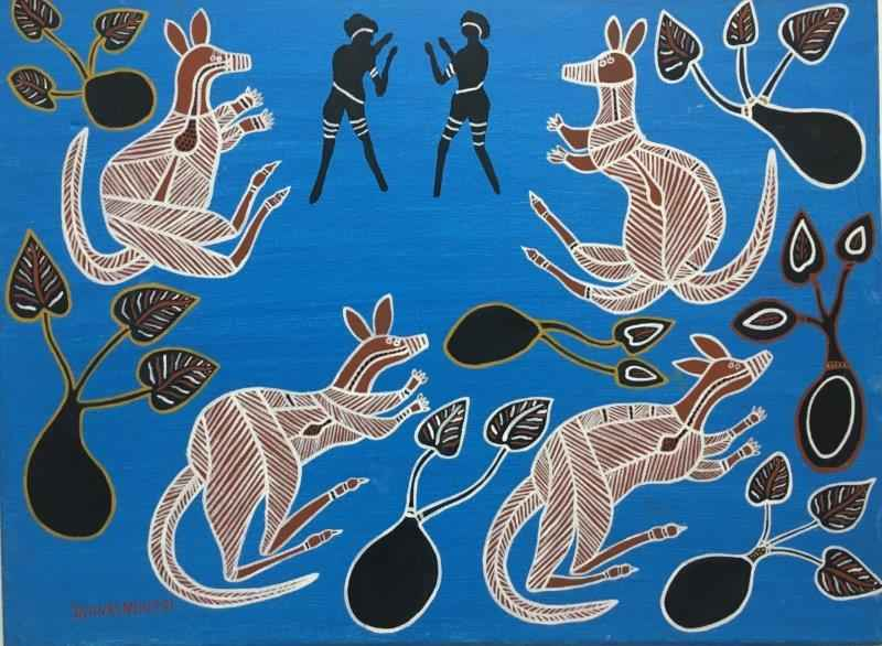 Kangaroo and Yam by Mr James Archer - Masterpiece Online