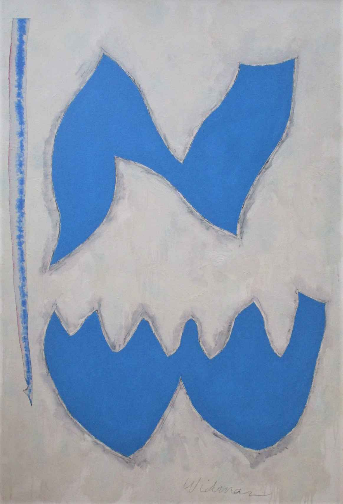 Unknown (Blue & White... by  Harry Widman - Masterpiece Online