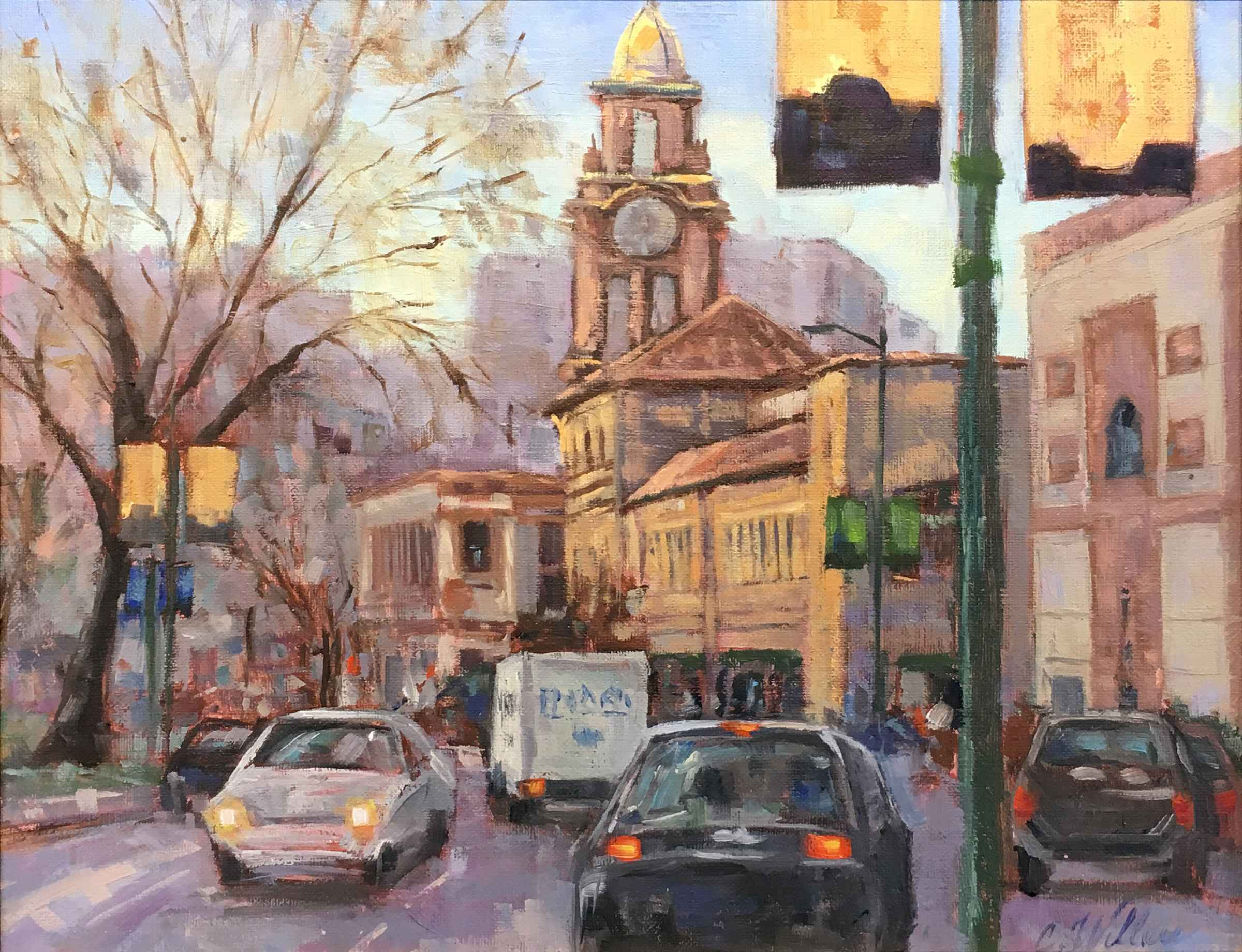 Plaza Banners by  Chris Willey - Masterpiece Online