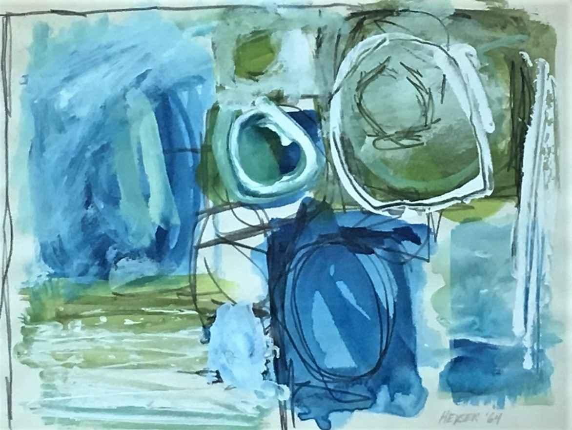 Unknown (blue&green a... by  Norma Heyser - Masterpiece Online