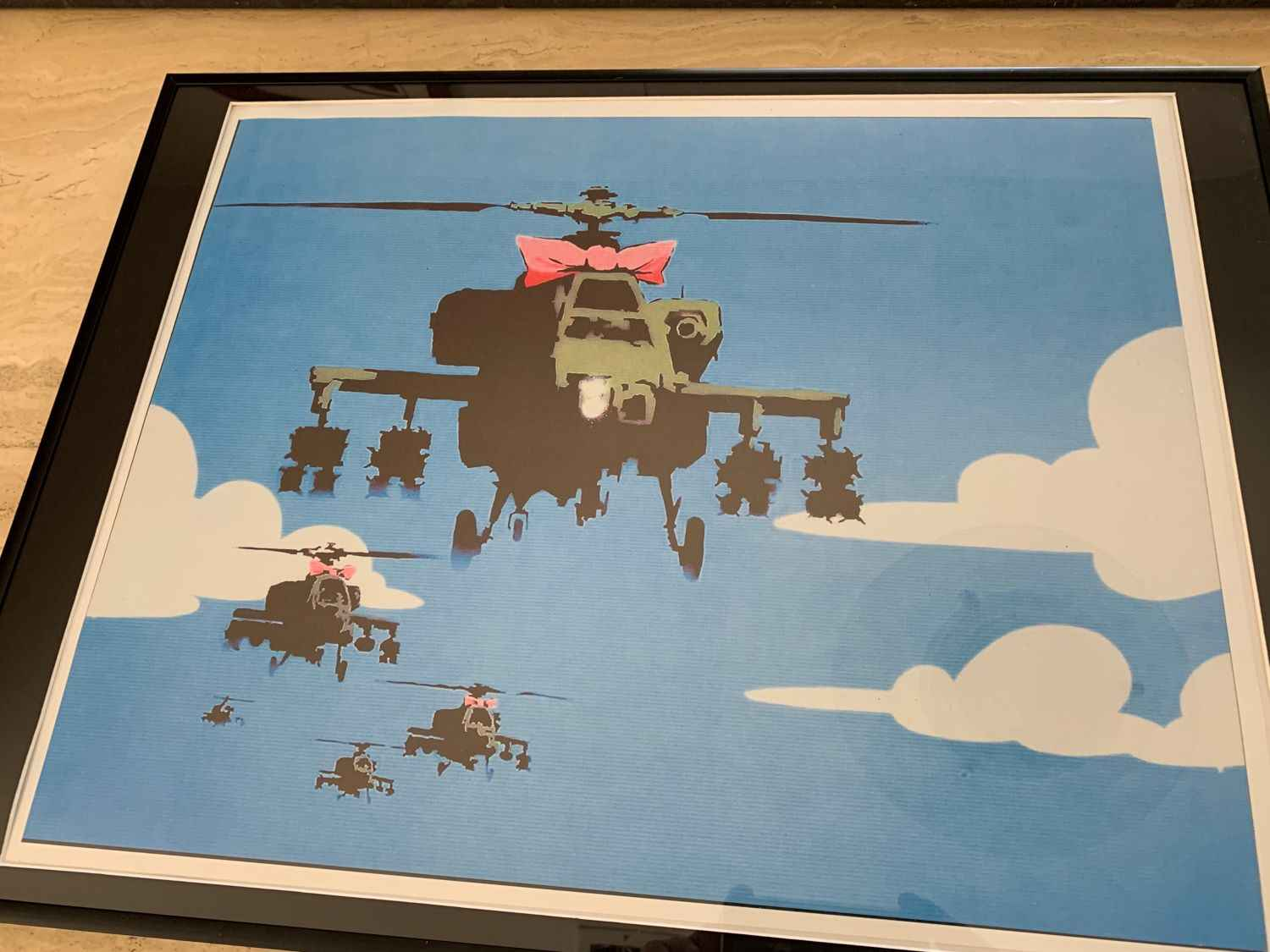 Helicopters by   Banksy - Masterpiece Online
