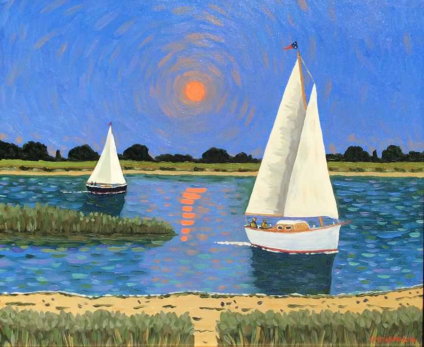 Sunlit Sail by  Claudio Gasparini - Masterpiece Online