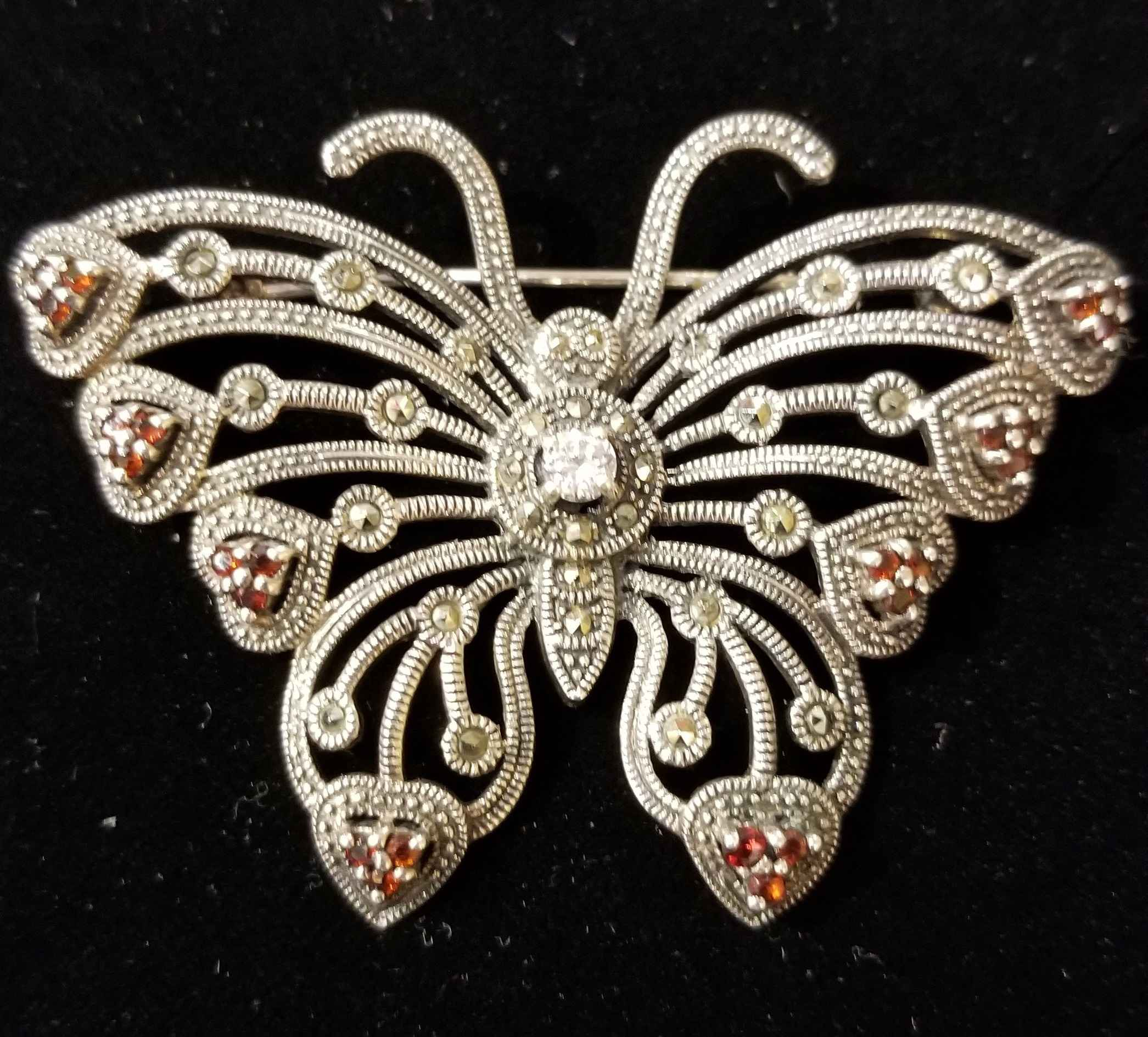 Pin - Butterfly w/Dia... by  Gallery Pieces - Masterpiece Online