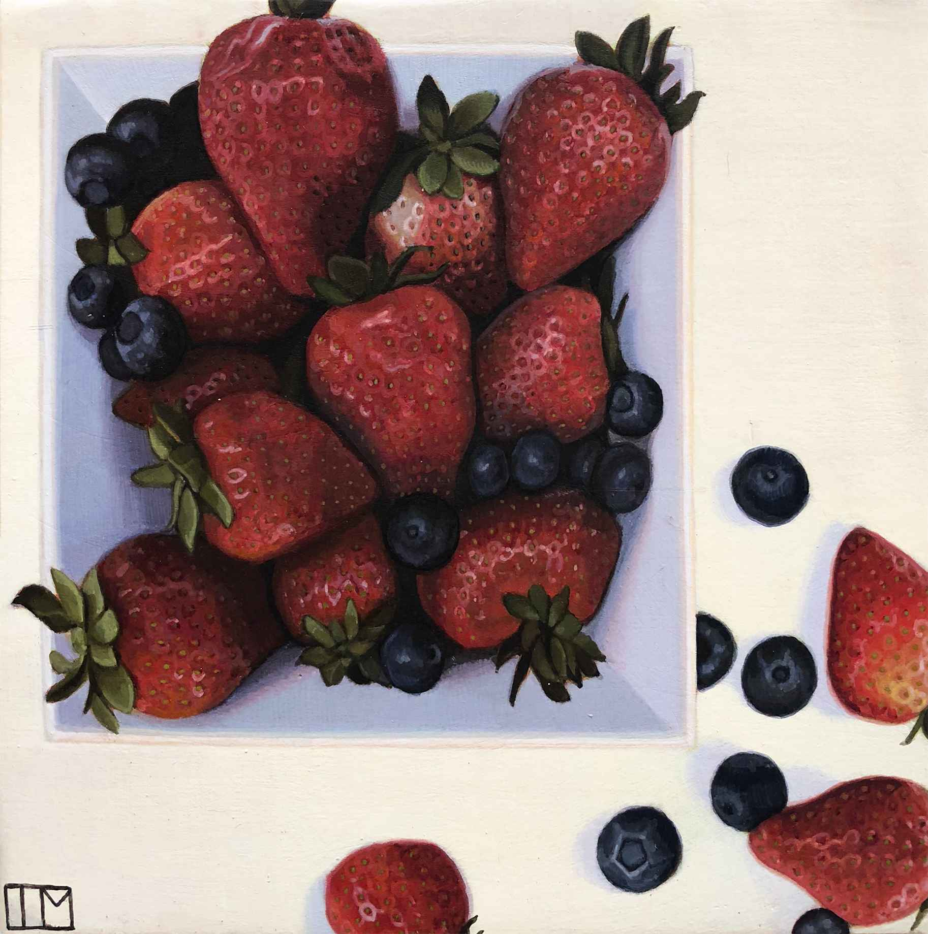 Strawberry And Bluebe... by  Teagan McLarnan - Masterpiece Online