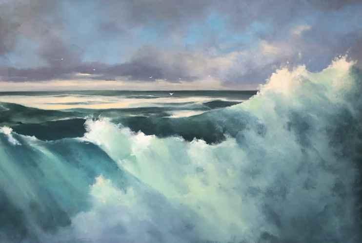 Constant Surge Diptych by  Frank Ferrante - Masterpiece Online