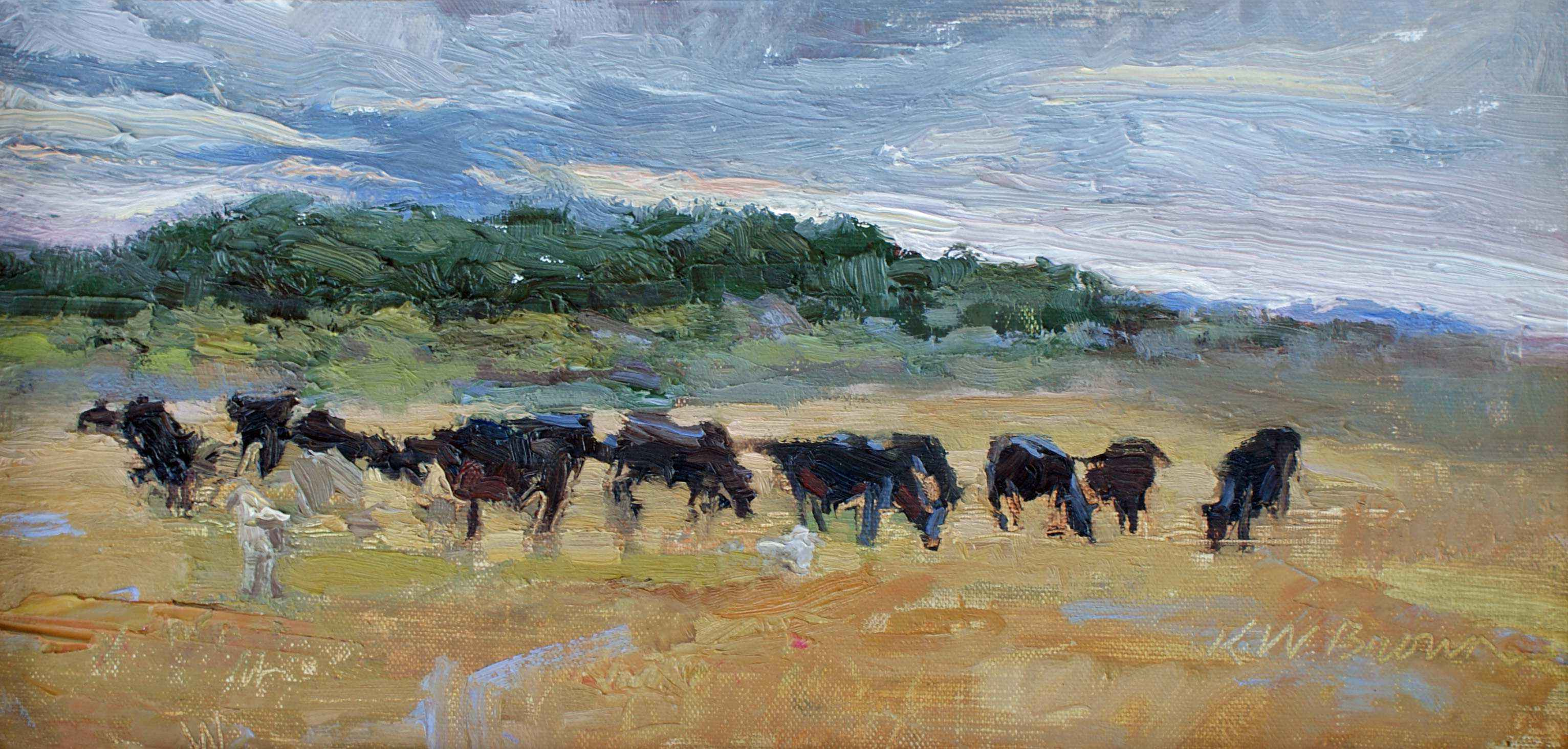 Cow Staging by  Krystal Brown - Masterpiece Online