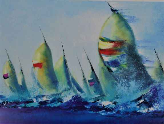 July Sails  by  Victor Spahn