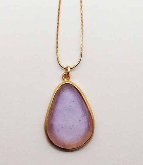 Large Pear Shape Pendant in Lavender