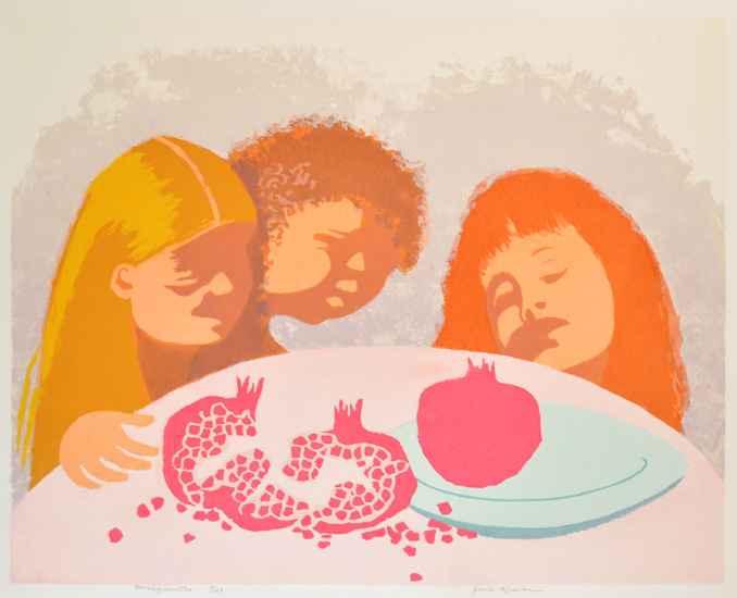 Pomegranates by  Jane Kraike (1910-1991) - Masterpiece Online