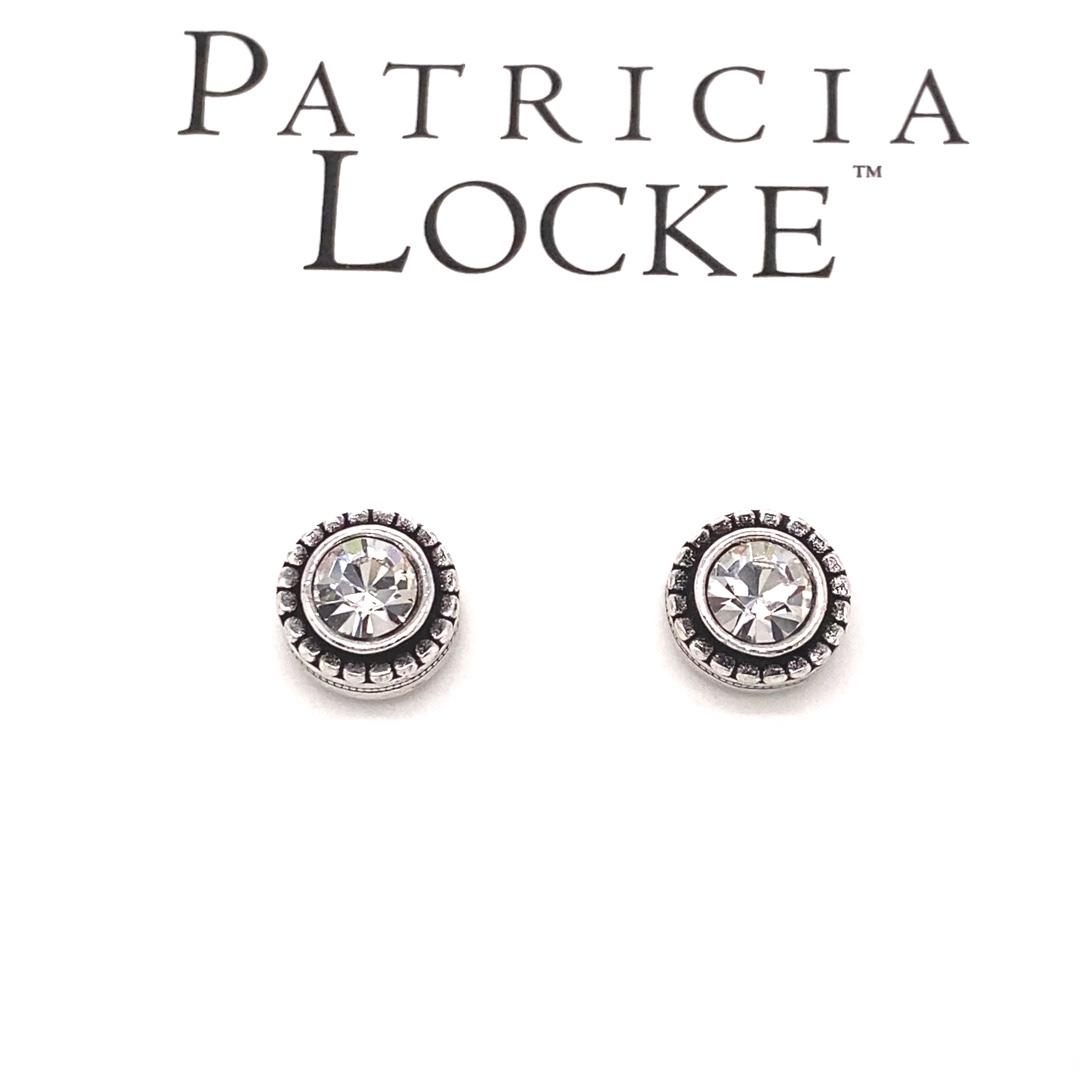 Indie Earrings in Silver, All Crystal