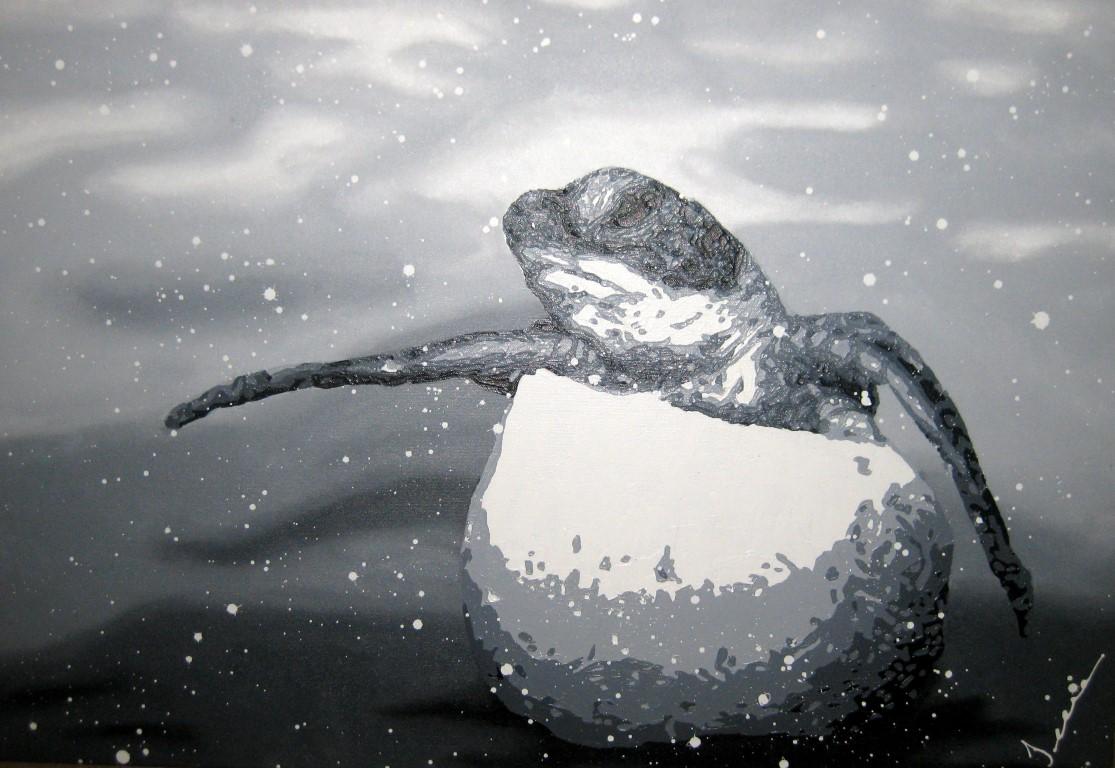 Baby Grey Awakening I by  Jeena Chatrani - Masterpiece Online