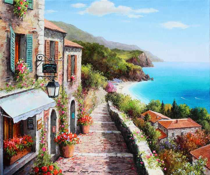 Down the Steps by  Soon Ju Choi  - Masterpiece Online