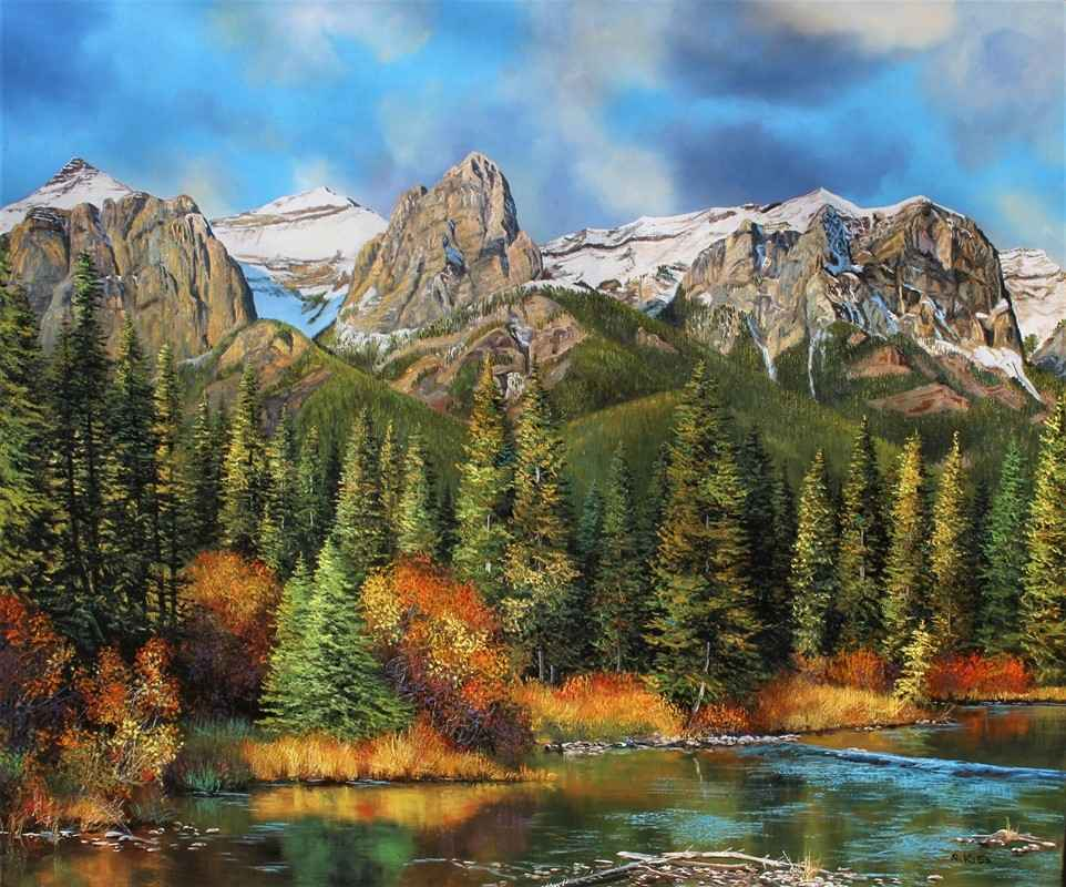 Above Canmore by  Andrew Kiss - Masterpiece Online