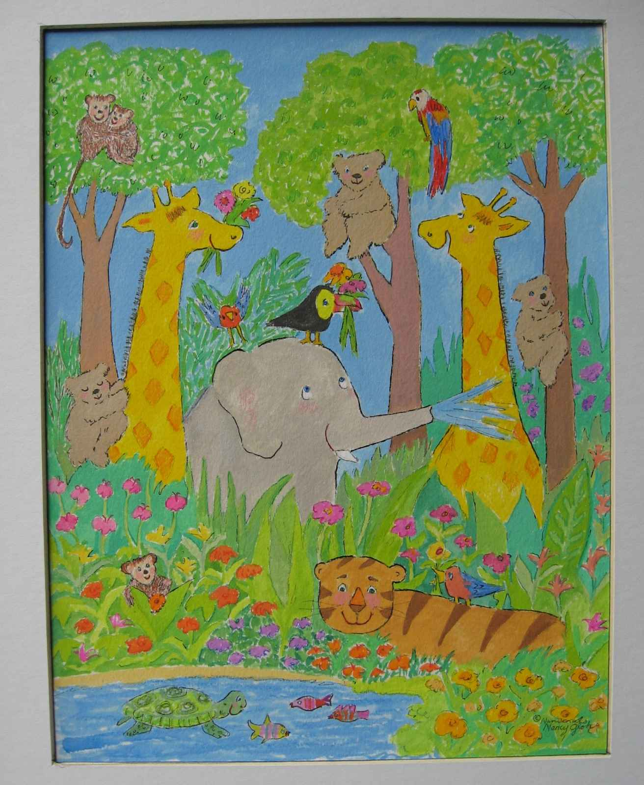 Jungle Animals with T...