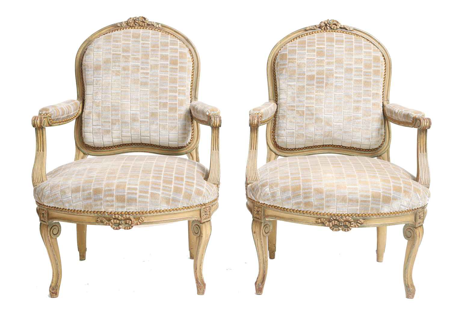 Pair of Painted 19th ... by  French  - Masterpiece Online