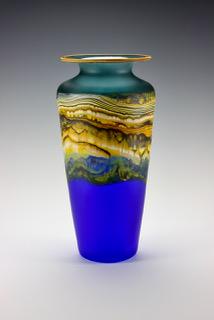 Traditional Urn in Translucent Sage Cobalt