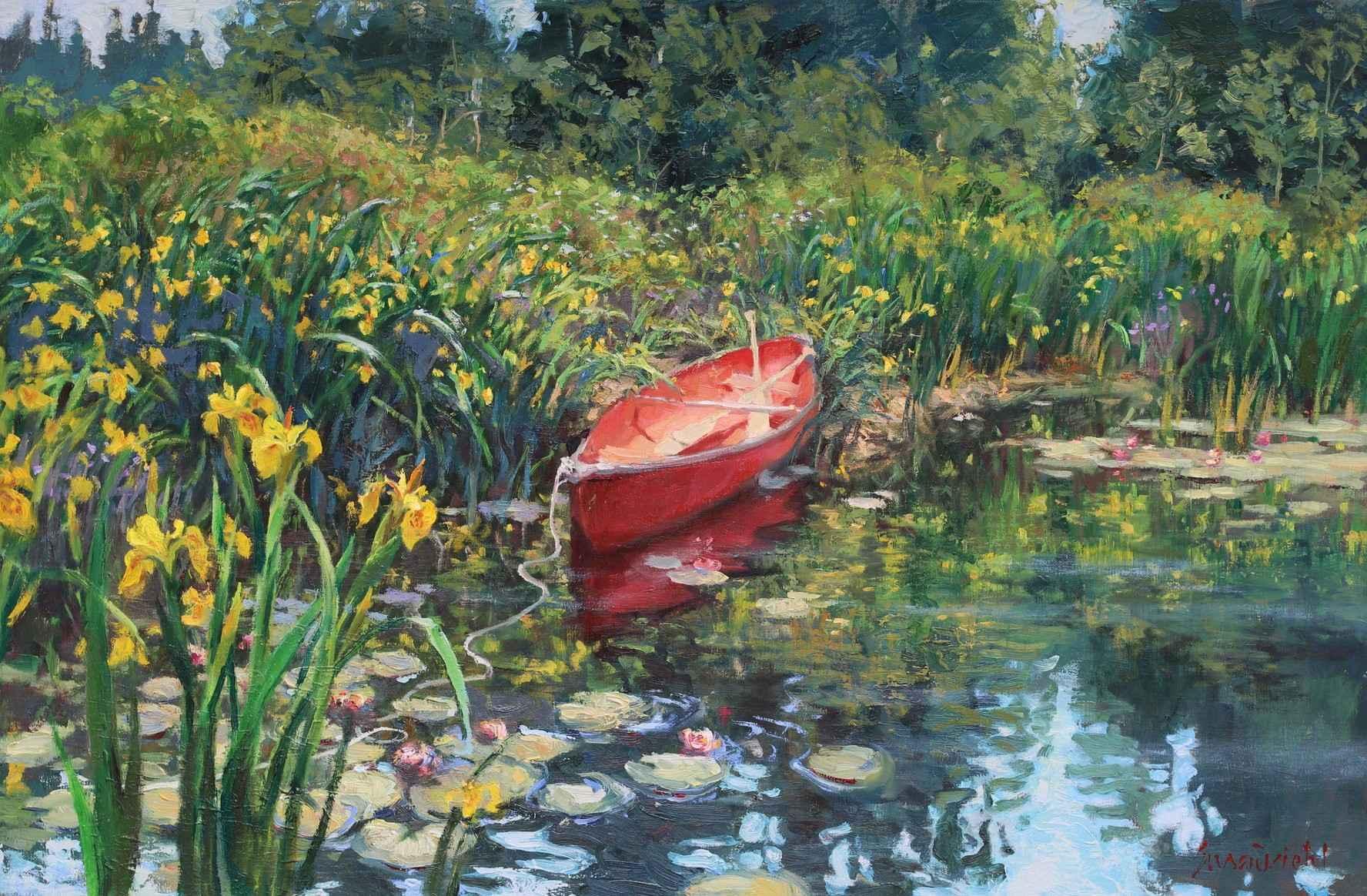 Lilypad Landing by  Susan Diehl - Masterpiece Online