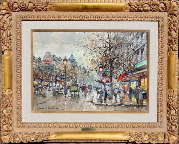 Les Grands Boulevards by  Antoine  Blanchard  - Masterpiece Online