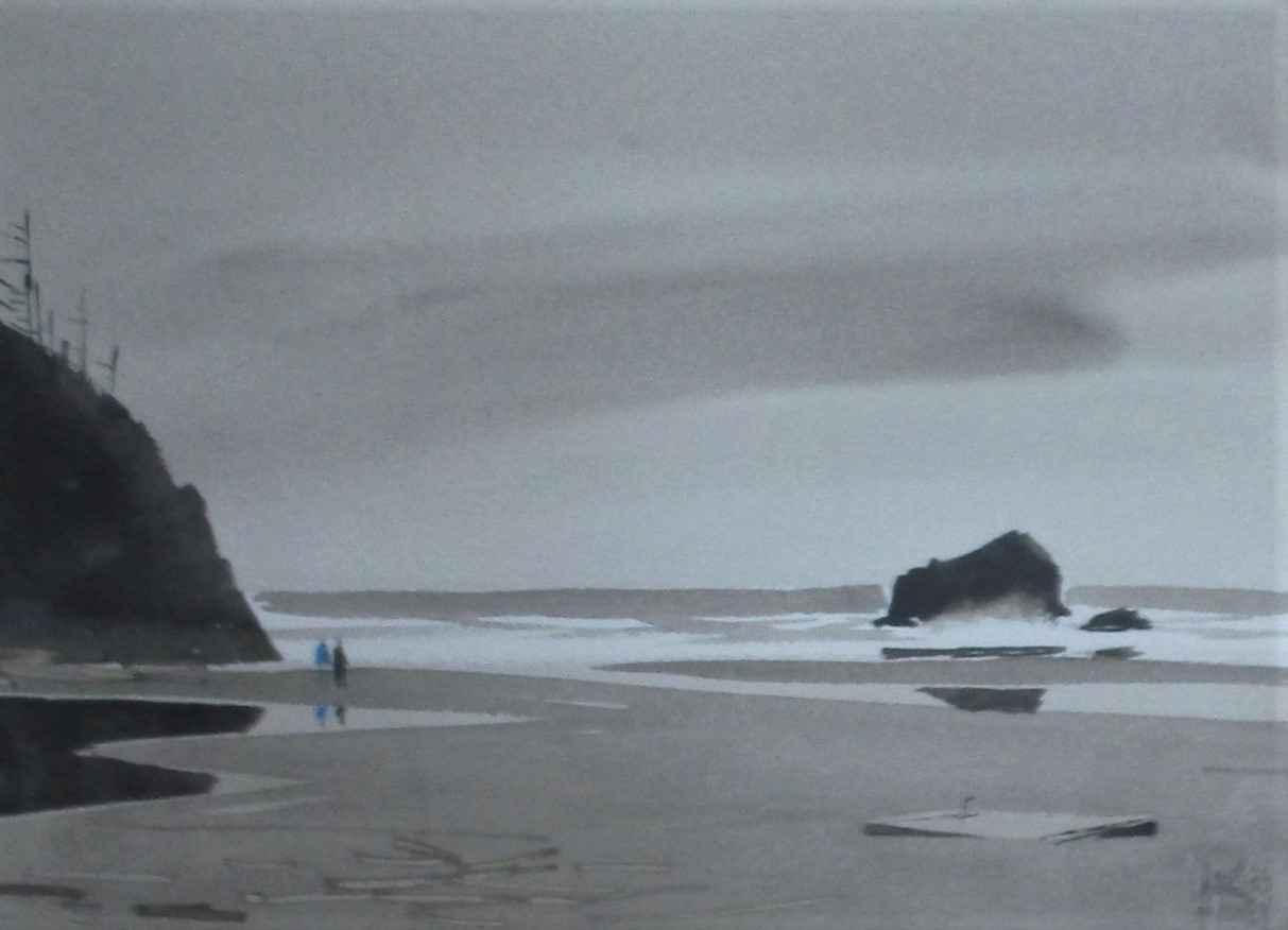 Unknown (Beach walk) by  Charles Mulvey - Masterpiece Online