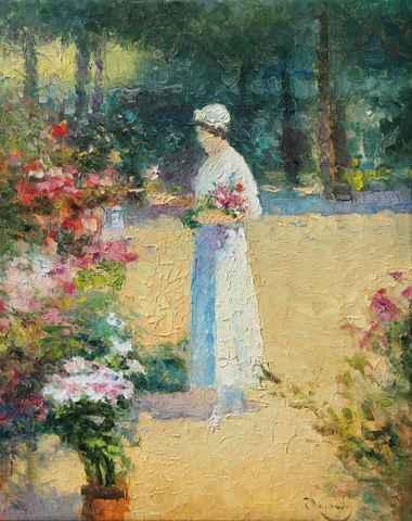 Woman in White by  Vladimir  Nasonov  - Masterpiece Online