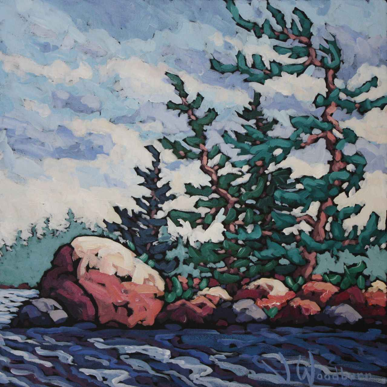 West Wind Blows Study by Ms Jennifer Woodburn - Masterpiece Online