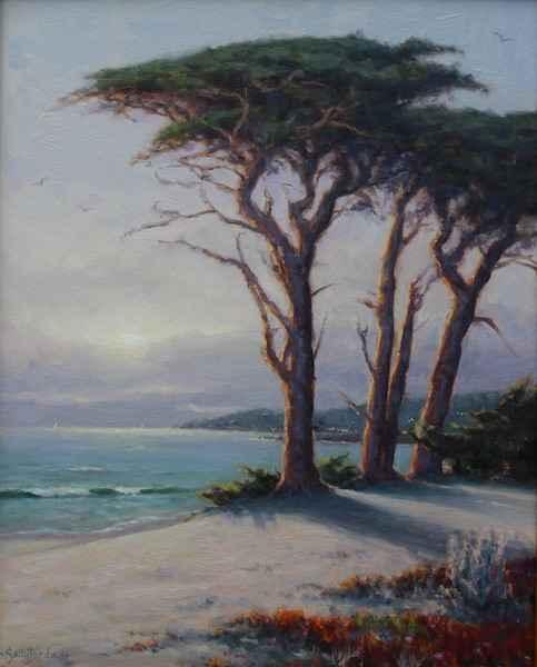 Foggy Sunset by  Sally  Jordan - Masterpiece Online