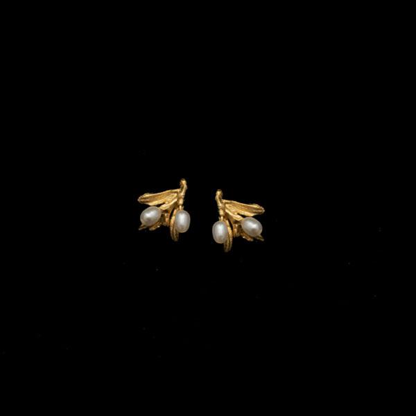 Night Willow Stud Earrings