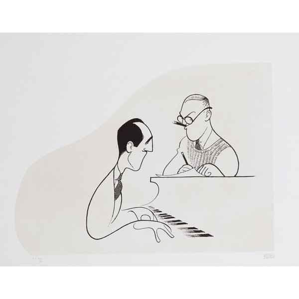 George and Ira Gershw... by  Al Hirschfeld - Masterpiece Online