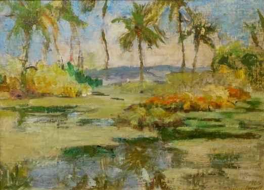 Hawaiian Landscape by  Shirley Russell (1886-1985) - Masterpiece Online