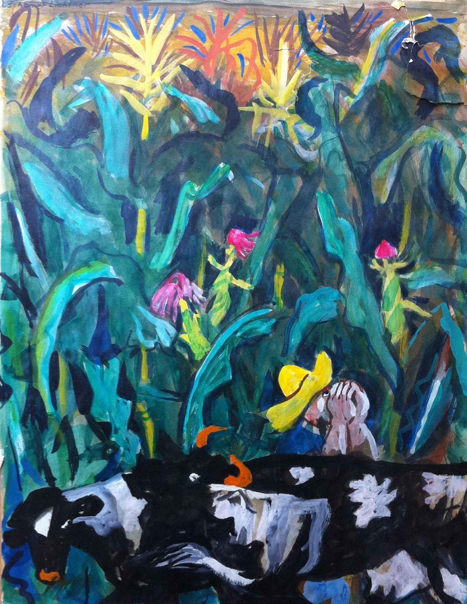 Farmer with Yellow Ha... by Mr. Schomer Lichtner - Masterpiece Online