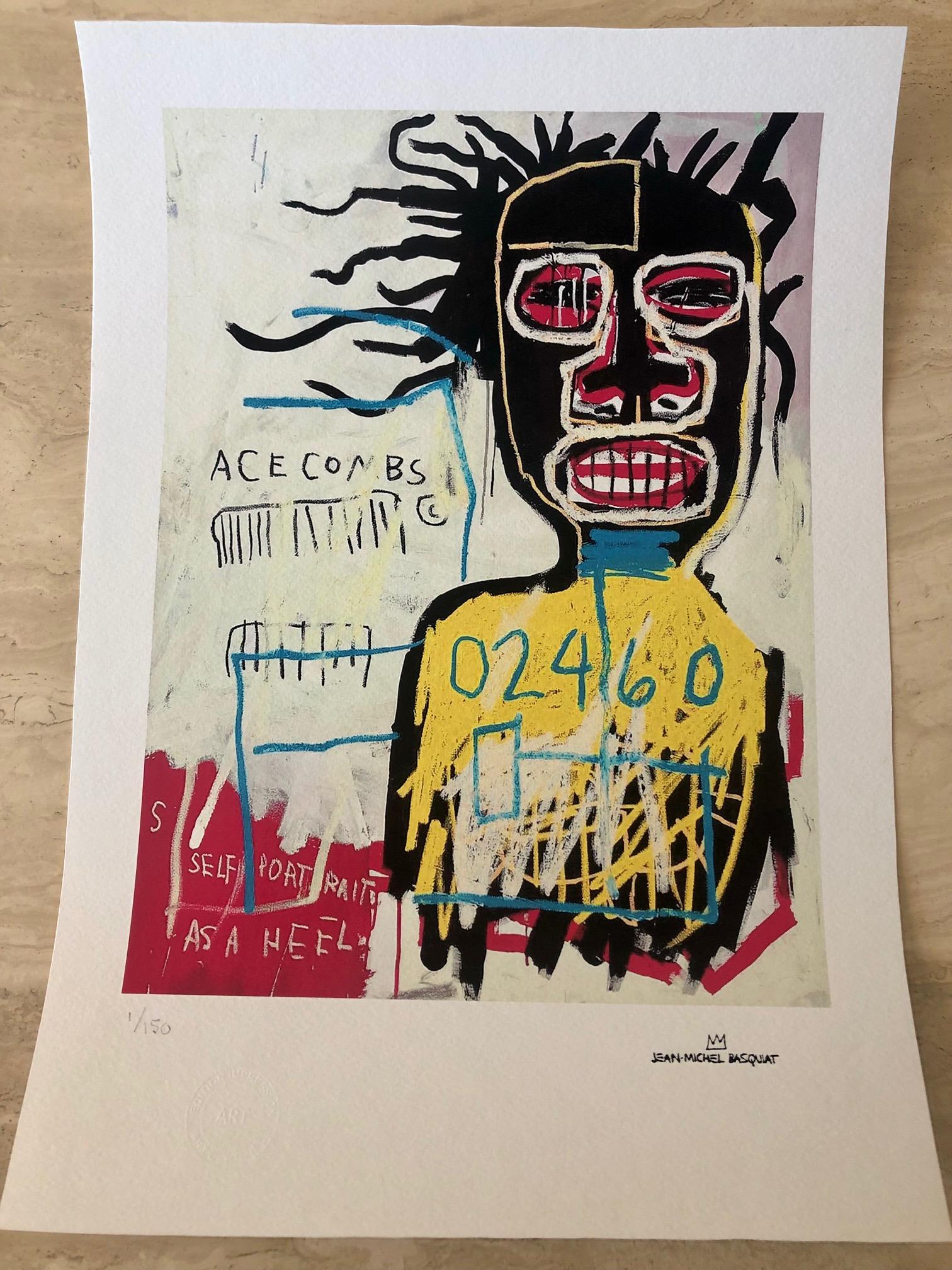 Self Portrait as a He... by  Jean-Michel Basquiat - Masterpiece Online