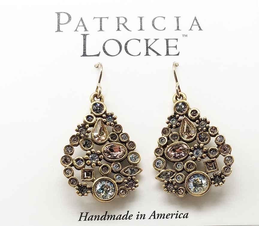 St. Petersburg Earrings in Gold, Champagne
