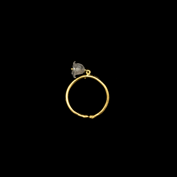 Lily of the Valley Single Pearl Adjustable Ring