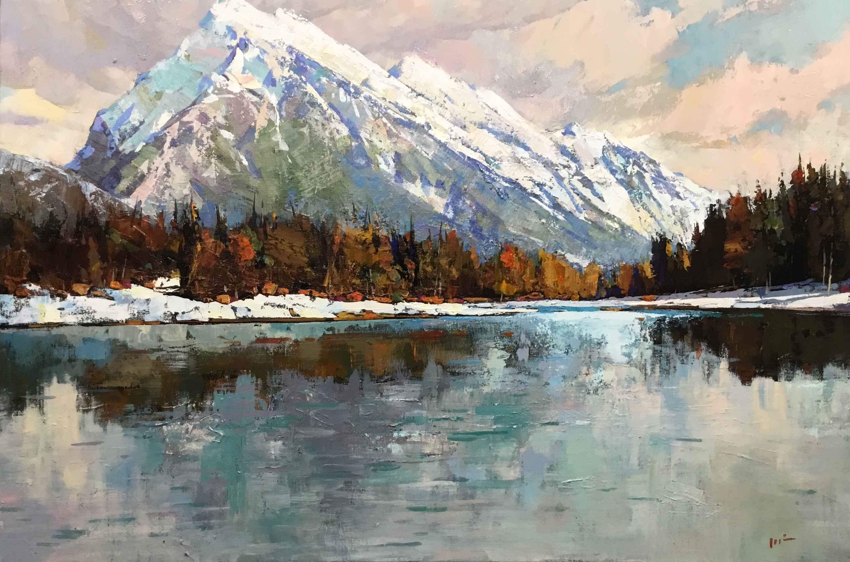Mount Rundle by  Min Ma - Masterpiece Online