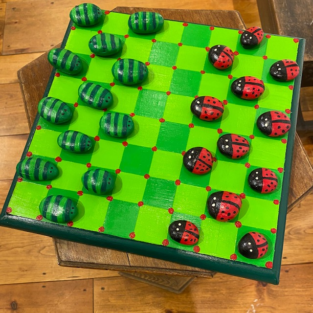 A game of Checker bugs by  Cammie Naylor - Masterpiece Online