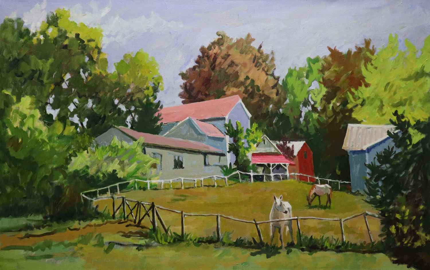 Horse Farm 12 By Joseph Cave Adam Cave Fine Art