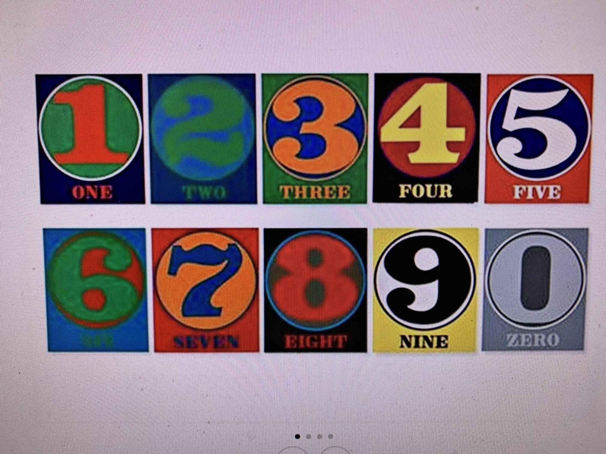 Numbers by  Robert Indiana - Masterpiece Online
