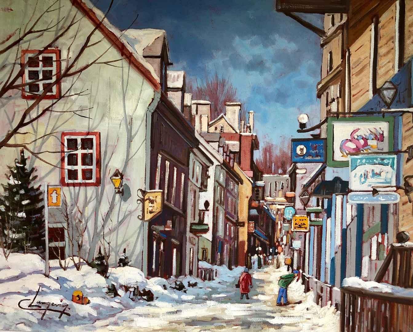 Rue Petit-Champlain V... by  Claude Langevin - Masterpiece Online