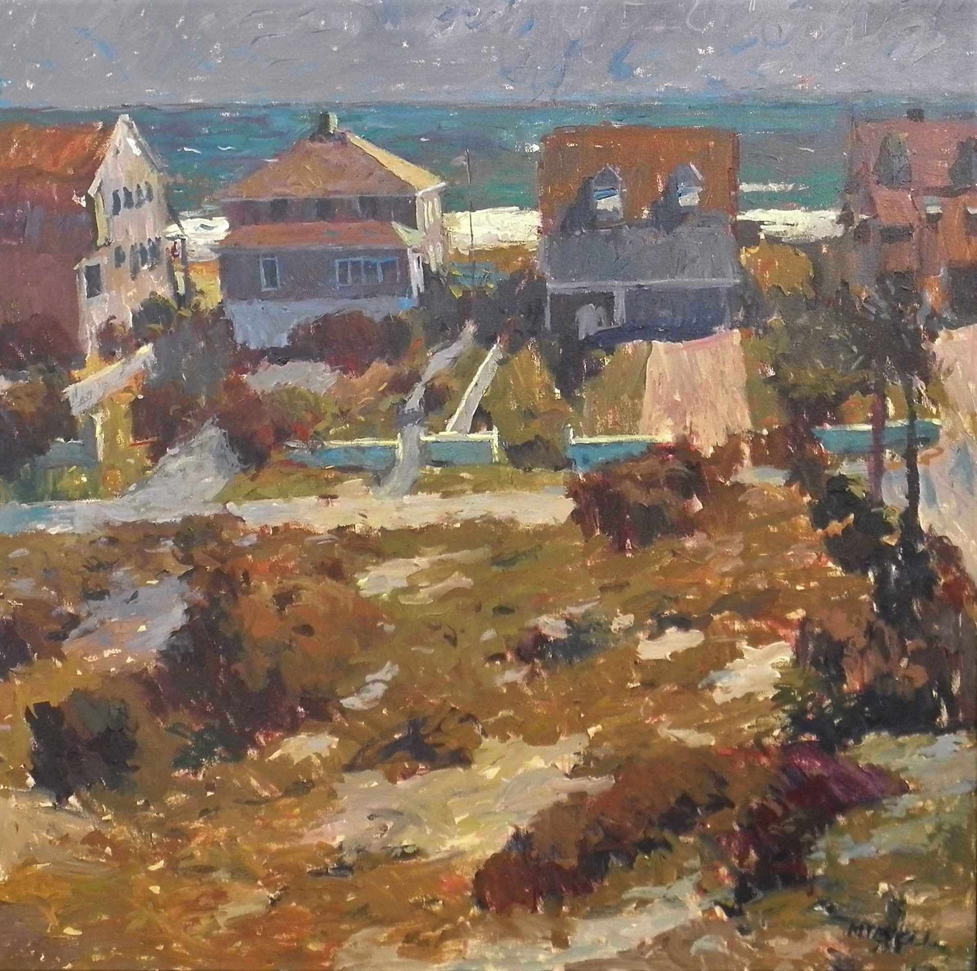 Beach Houses in Backl... by  M.T. McClanahan - Masterpiece Online