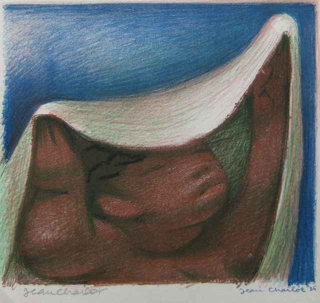 Woman Lifting Rebozo_5 by  Jean Charlot (1898-1979) - Masterpiece Online