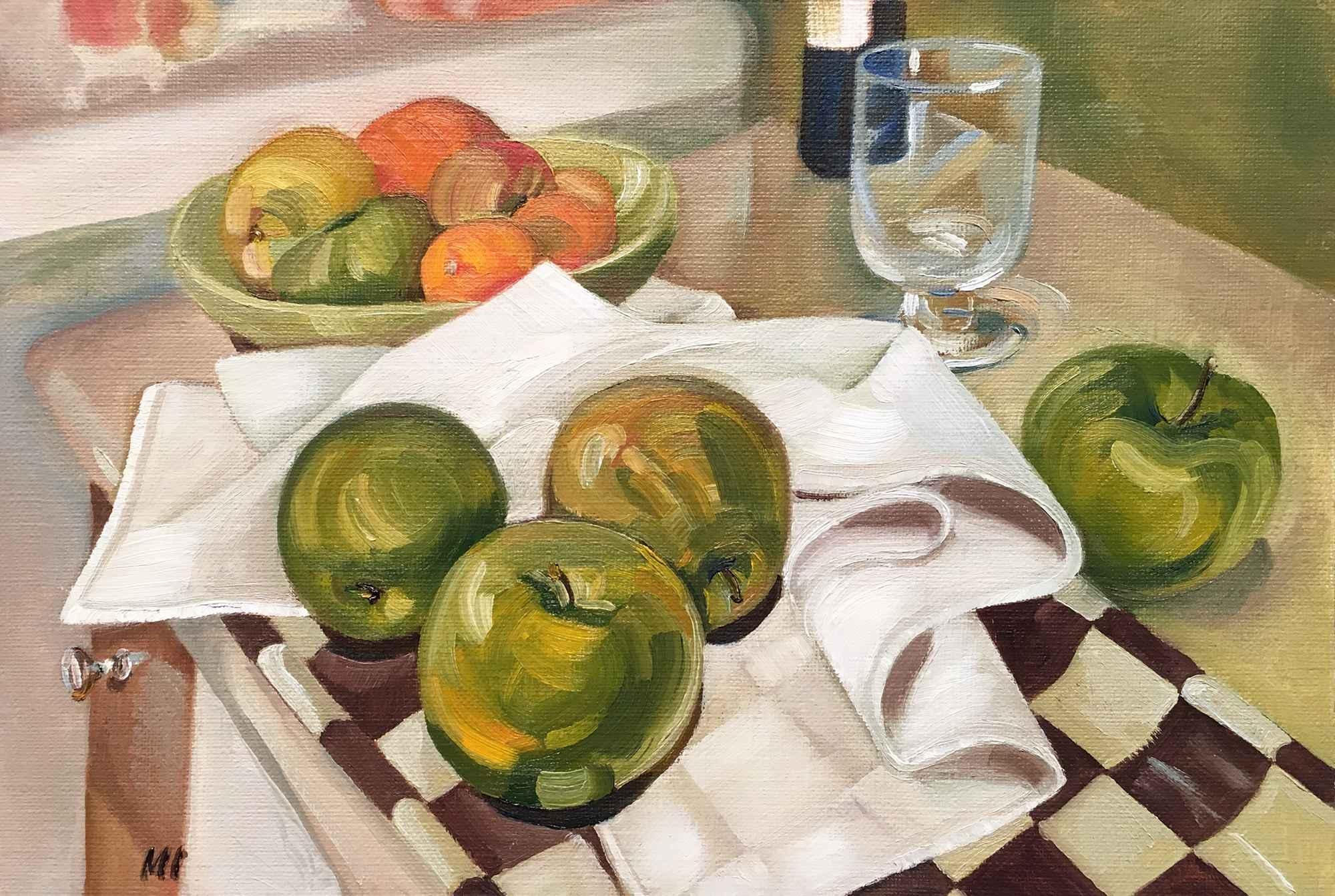 Apples & Checkered Tr...  by  Marina Ivanova - Masterpiece Online