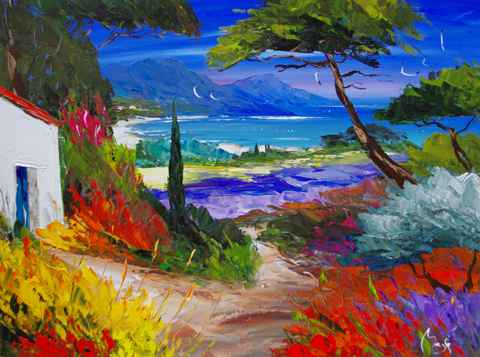 Colorful Coast by  Louis  Magre - Masterpiece Online