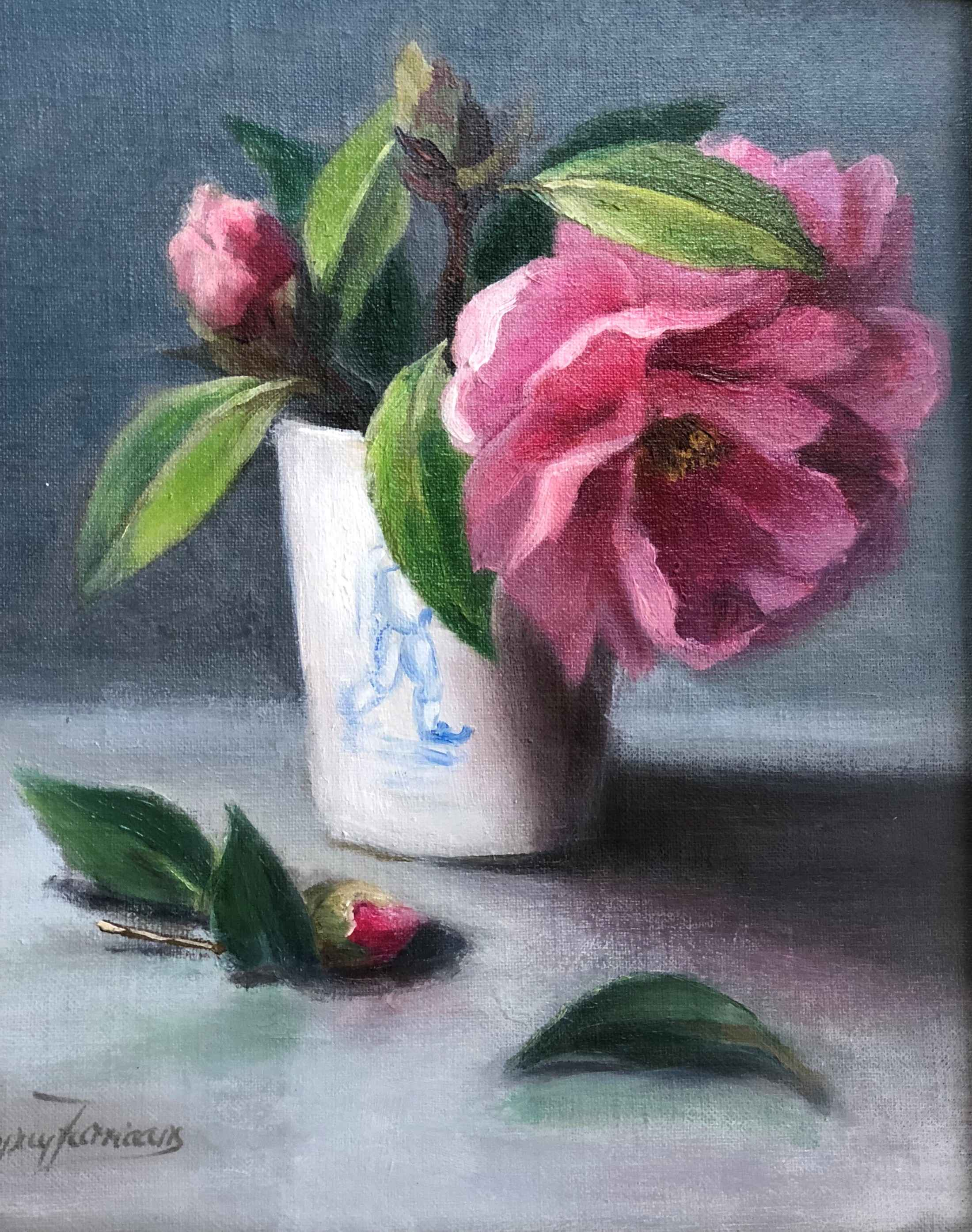 In The Pink Camelias by  Cary Jurriaans - Masterpiece Online