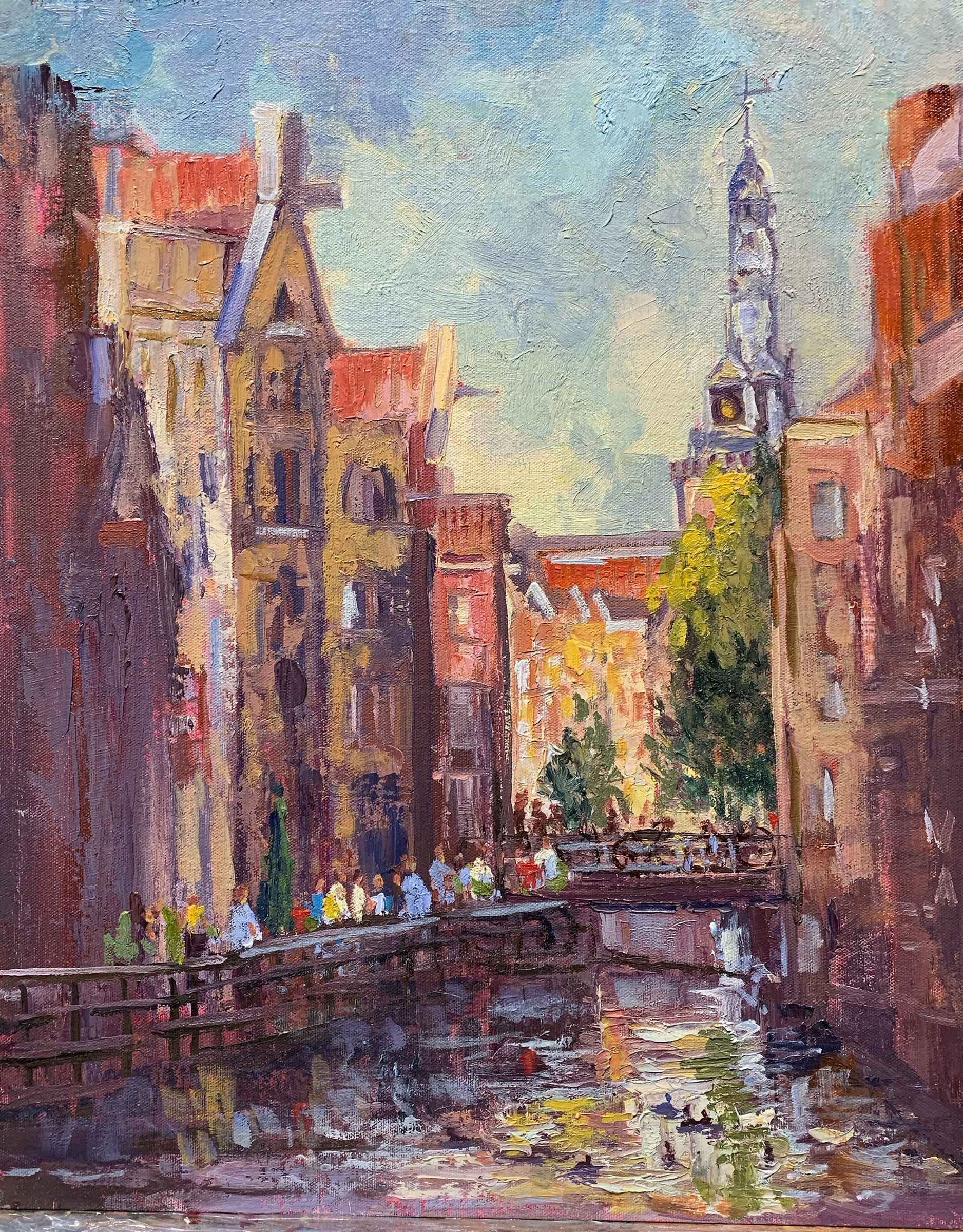 Evening on the Canal,... by  Doloris Pederson - Masterpiece Online