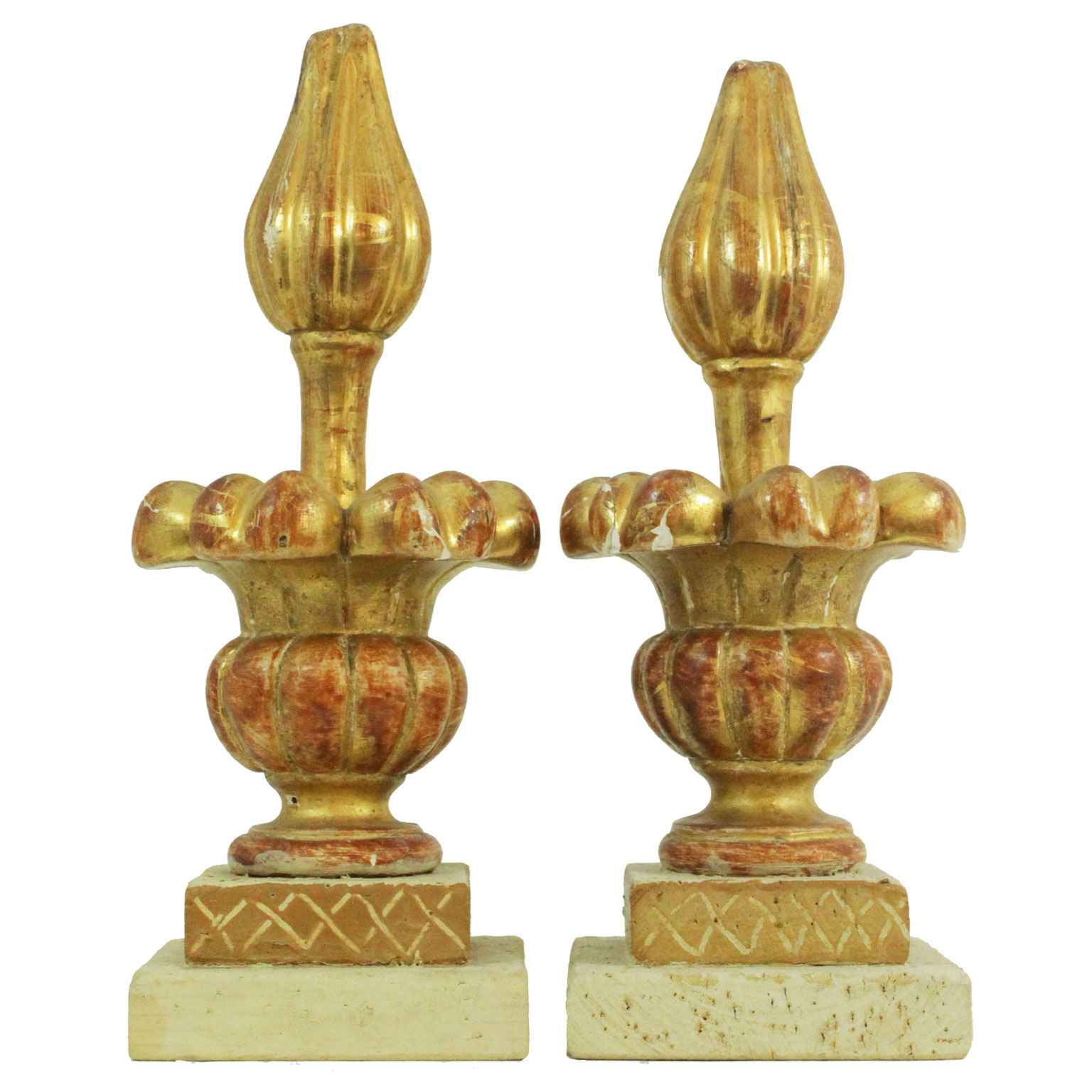 Pair of Giltwood Fini... by  Italian  - Masterpiece Online